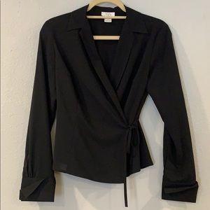 EUC Ann Taylor LOFT tie waist blouse, Sz2